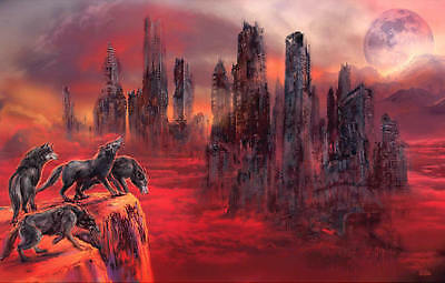 Wolves Of Future Passed Art Poster Print Apocalypse Landcape Wolf Wolves Nature