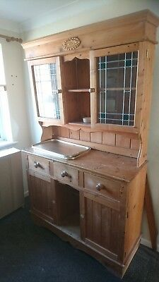 Dresser With Top Glass Doors Traditional Pine
