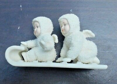 """Winter Tales """"Down the hill we go"""" Department 56 Snowbabies collectible"""