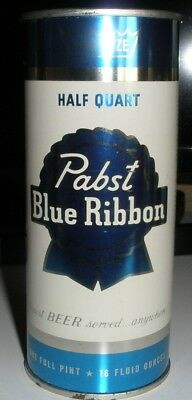 Pabst Blue Ribbon Beer flat top can  16 oz