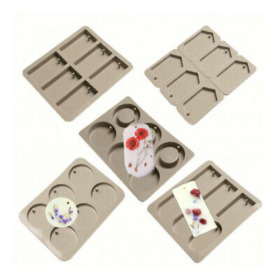 6-Cavity Aromatherapy Wax Tablet Candle Plaster Soap Mold Silicone Mould