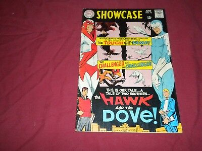 Showcase #75 dc 1968 silver age 6.0/fn comic! 1ST HAWK AND DOVE! Lots keys up!!!
