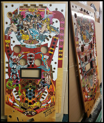 Bally Medusa Pinball Reproduction Playfield  Bow in wood.