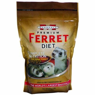 Marshall High Protein Premium Ferret Diet Pet Food 4Lbs Made in The USA