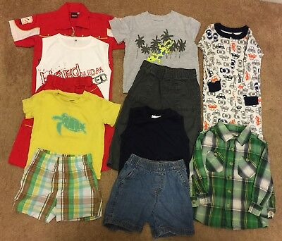 Lot of 11 Mixed Baby Boys Clothes 18 Months New/ Used