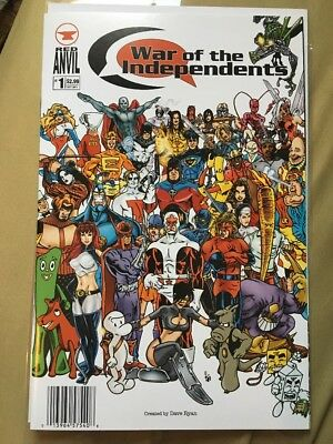 War of the Independents #1 Red Anvil Comics 2011 NM Cyberfrog