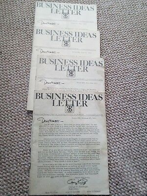 Business Ideas Letter 1973 - 4 Issues