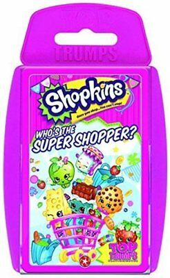 Top Trumps Shopkins Card Game WHO THE SUPER SHOPPER BRAND NEW SEALED