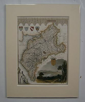 Cumberland: antique map by Thomas Moule, c1840