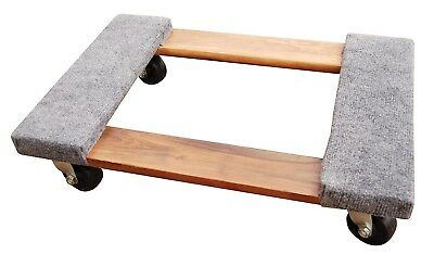 """Lot of 3 -16 X 24 Carpet Covered Moving Dolly, 3"""" Rubber Casters, 900 lbs cap"""
