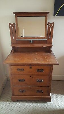 Arts and Crafts Dressing Table, Art Nouveau, Edwardian.
