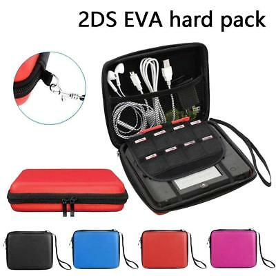 For 2DS EVA Hard Carrying Case Handle Bag Cover with Mesh Pocket !