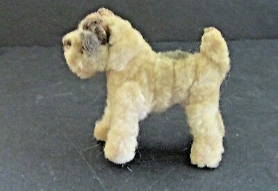 "Vintage Pipe Cleaner ARA? Wire-Haired Fox Terrier Dog Figurine 2.5""  Airedale"