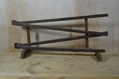 Antique Primitive Hand Made Wooden Marble Run Toy - Estate Find - Rare!