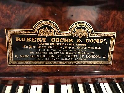 antique upright piano Robert Cocks and Company beautifully finished