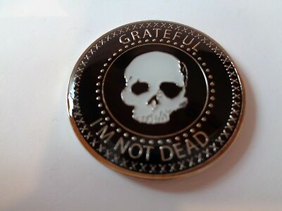 AA/NA Narcotics/Alcoholics Anonymous Skull Coin Grateful I'm Not Dead Medallion