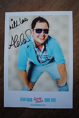 SIGNED Alan Carr Spexy Beast Tour 2011 A4 poster in card