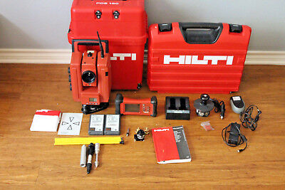 """Hilti POS180 3"""" Robotic Survey Layout Total Station w/ POC100 Data Collector"""