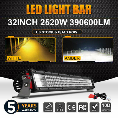 """CREE 32""""inch Led Work Light Bar Spot Flood +Wiring kit Offroad SUV For Ford SUV"""