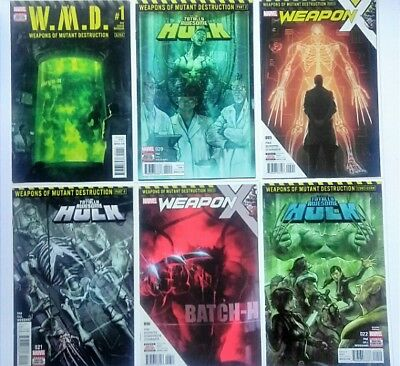 TOTALLY AWESOME HULK 20,21,*22 NM/NM+ WMD 1 WEAPON X 5,6 All 6 Parts (*2nd prnt)