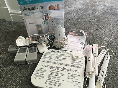 Angelcare AC1100 Sound Movement Sensor Pad Baby Nursery Monitor With Two Charger