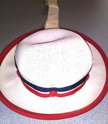 Vintage 1960s Red, White, and Blue Girls Hat