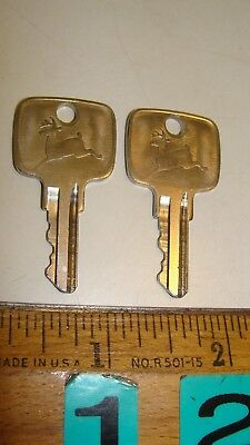2 Vintage John Deere Ignition Cut Keys
