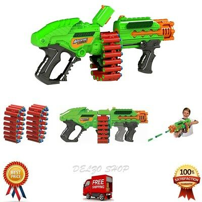 Powerbolt Belt Blaster Gun Zombie Strike Rapid Fire Foam Soft Dart Nerf Kids Toy