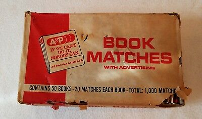 Unopened pack vintage A&P Grocery Store book type matches ~ 50 books in pack