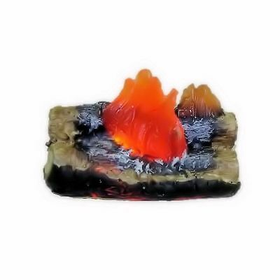 Dollhouse 12 Volt Lighting Raging Fireplace or Camping Fire Logs 1:12 Miniature