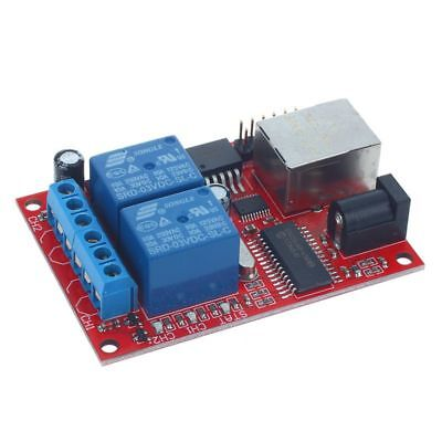 LAN Ethernet 2-way Relay Board Delay Switch TCP/UDP Controller Module WEB s D6E4