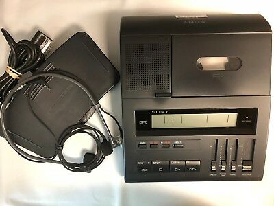 Sony BM89 standard cassette transcriber with foot pedal, AC adapter & warranty
