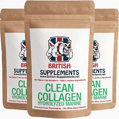 Clean Marine Collagen Type I 577.8mg per serving Anti Aging British supplements