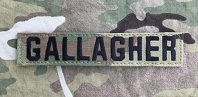 US ARMY Multicam OCP Scorpion Uniform Name Tape Klett patch camouflage GALLAGHER