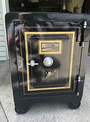 Fantastic Restored 1900's Antique Alpine Safe Cincinnati Ohio Safe Like Mosler