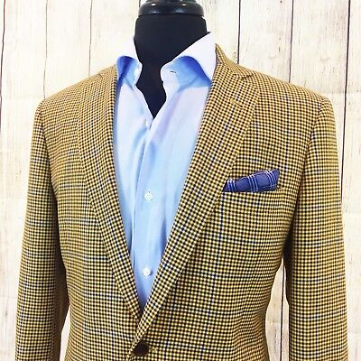 Brooks Brothers 1818 Fitzgerald Club Hounds Club Check Mens Blazer SportCoat 42L
