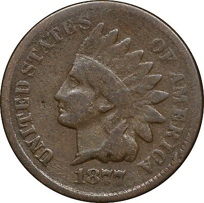 1877 Indian Head Cent, 1C, VG, Very Good