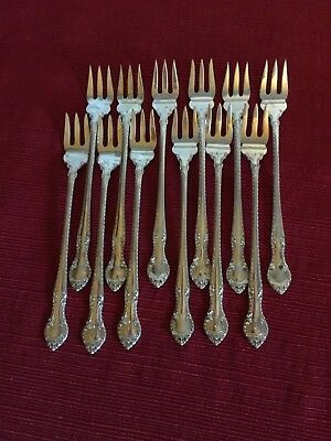Gorham Sterling Pickle/olive Forks English Gadroon From An Estate Sale