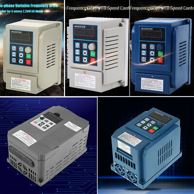 AC 1.5/0.75/2.2KW CNC 220/380V Variable Frequency Drive Inverter Single/3-Phase