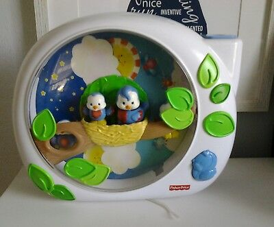 Fisher Price Flutterbye Dream Bird Crib Baby Projector Music Soother Works Great