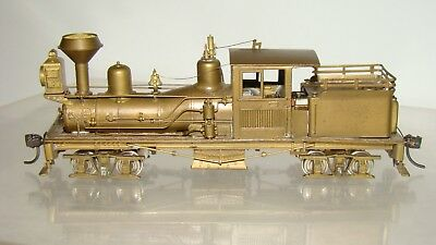 HO Scale Brass PFM United Scale Models Benson Log Co. 25-Ton Shay w/box runs!!