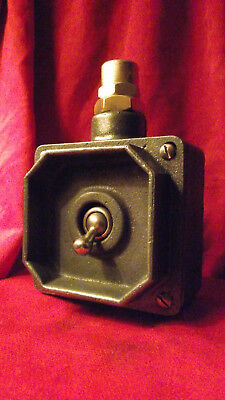 """Vintage Industrial Light Switch """"Tucker"""" Cast Iron 1 One Gang"""