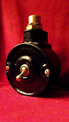 """Vintage Industrial Light Switch """"Tucker"""" Cast Iron 1 One Gang Black"""