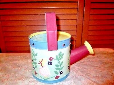 Galvanized Metal TOLEWARE WATERING CAN w/ Spout - Handpainted HOLLY HOBBY Design
