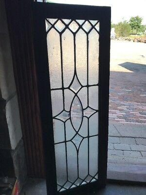 Sg 2375 Antique Textured And Beveled Glass Transom Window 16 X 44