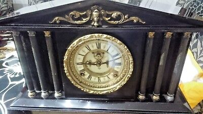 very large Victorian marble onyx mantle clock spares or repairs