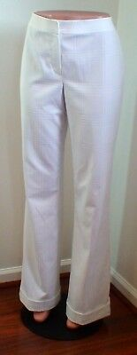 NWT St John Collection Patterned White Cuffed Pants; Size 12; $395