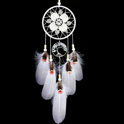 Indian Dream Catcher Handmade Tree of Life Dream Catchers with Feathers Wal ZH6