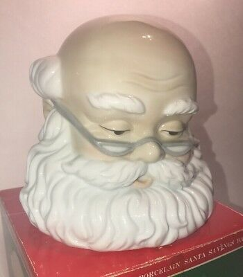 Vintage Under Glaze Porcelain Santa Claus Savings Bank By Studio 5 D-5374