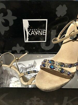 Johnathan Kayne Austria Taupe Pageant Shoes Heels Size 10M Jonathan Brand New